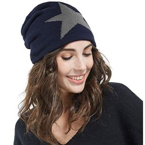 NEW Blue Star Lined Unisex Mens Womens Beanie